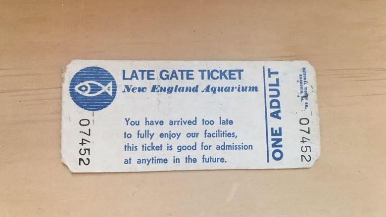 Tiket tua taman rekreasi New England Aquarium
