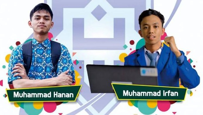 Dua peraih nilai UTBK SBMPTN 2021 sempurna Muhammad Hanan dan Muhammad Irfan.