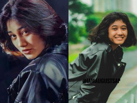 Foto Siti Aisyah Mardhiya Amilia yang mirip dengan Nike Ardilla.