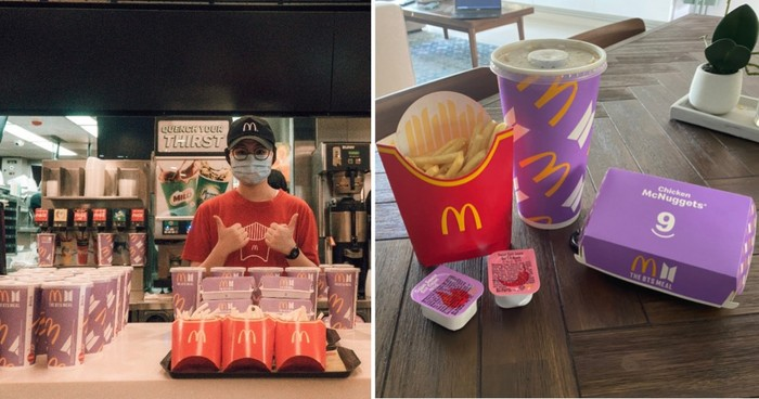 Keren! McD Singapura Kasih 2.000 BTS Meal untuk Pekerja Bandara Changi