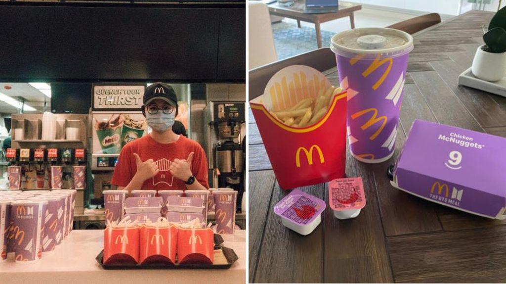 Keren! McD Singapura Bagikan 2.000 BTS Meal untuk Pekerja Bandara Changi