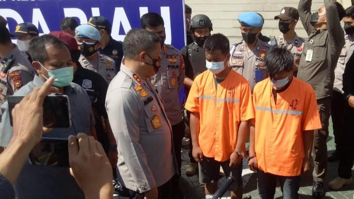 Konferensi pers di Polda Riau terkait kasus narkoba (Raja Adil-detikcom)
