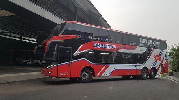 PO Borlindo asal Makassar (Sulawesi) menggunakan sasis bus premium