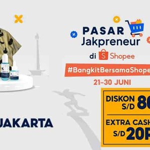 Shopee Buka Pasar Jakpreneur, Produk Erigo dkk Diskon hingga 80%