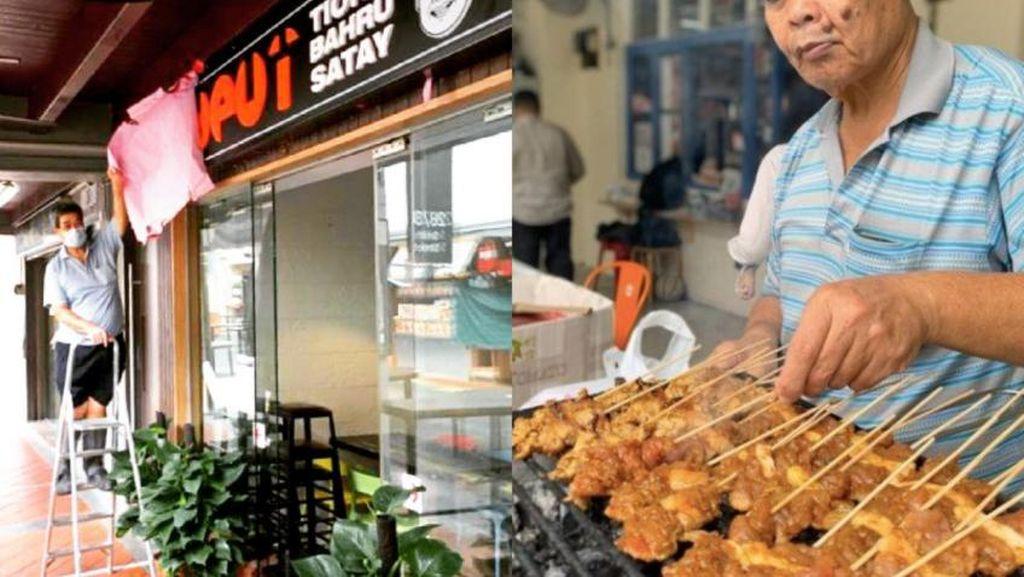 5 Spanduk Restoran Kocak hingga Kedai Sate Babi Laris Buka Kedai