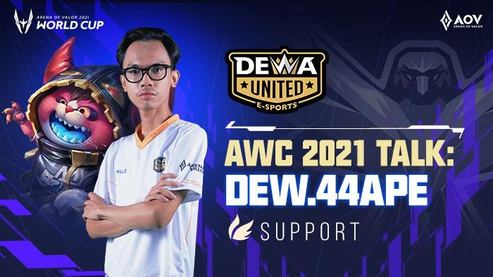 AOV World Cup: Tanggapan DEW.44ape Soal Peluang Lolos Dewa United Esports