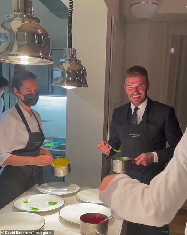 David Beckham Jadi 'Asisten' Chef Massimo Bottura, Jago Plating Makanan!