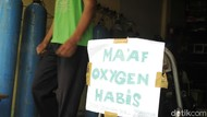 Waduh! Tabung Oksigen di Pasar Pramuka Habis Gara-gara Corona Menggila