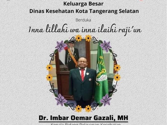 Kepala Bidang Pelayanan Kesehatan, Dinkes Tangsel Imbar Umar Gazali / Ketua IDI Tangsel