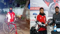 Rajin Antar Pesanan Teh Tanpa Mengeluh, Pria Ini Dapat Hadiah Sepeda Baru