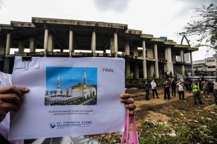 Rancangan Masjid Agung Kota Bogor.