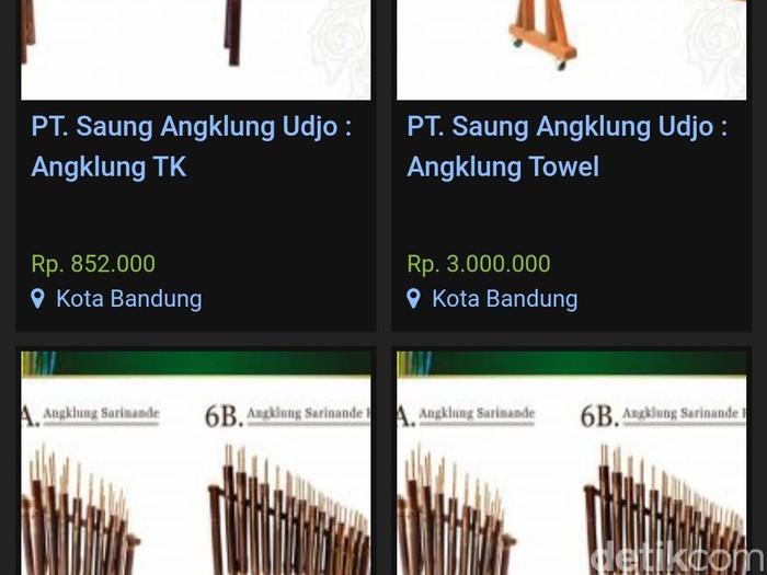 Saung Angklung Udjo lelang 13 barang via website