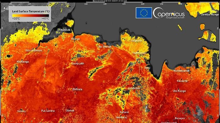 Suhu di Siberia tembus 48 derajat Celsius