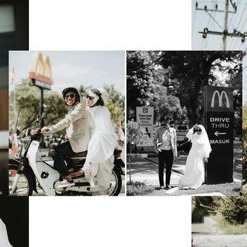 Pengantin sesi foto pernikahan di McDonald's bikin kagum.