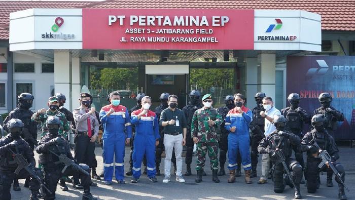 Yonif 321 bersama Pertamina EP menggelar simulasi pencegahan terorisme