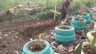 Kesal Warga Buang Sampah Sembarangan, Kepling di Medan Buat Kuburan Palsu