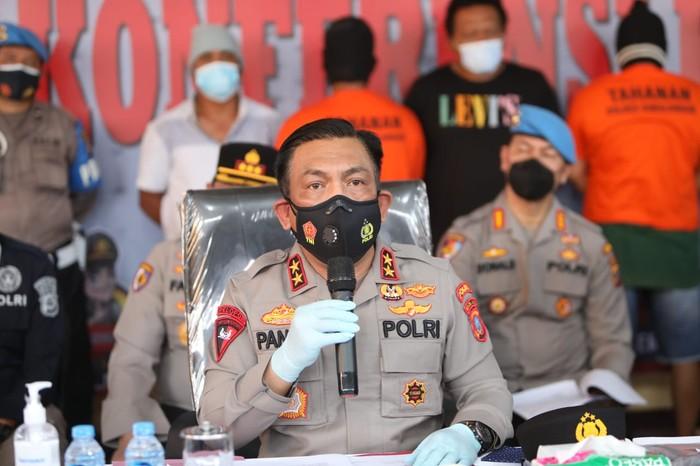 Konferensi pers kasus penembakan pemred di Sumut (dok. Polda Sumut)