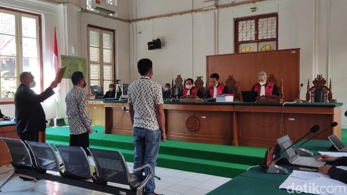 KPK Hadirkan 2 saksi di sidang terdakwa penyuap Nurdin Abdullah, pengusaha Agung Sucipto (Hermawan/detikcom).