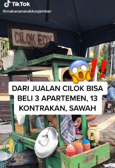 Penjual Cilok Sukses Bisa Beli Apartemen, Rumah Kontrakan, dan Sawah.