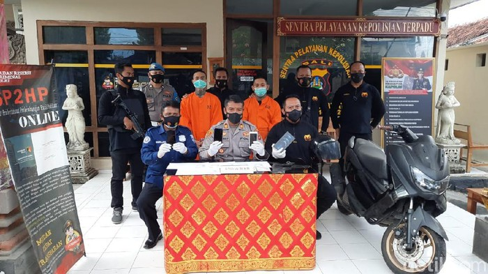 Residivis penjambret bule di Bali ditangkap polisi (Sui/detikcom).