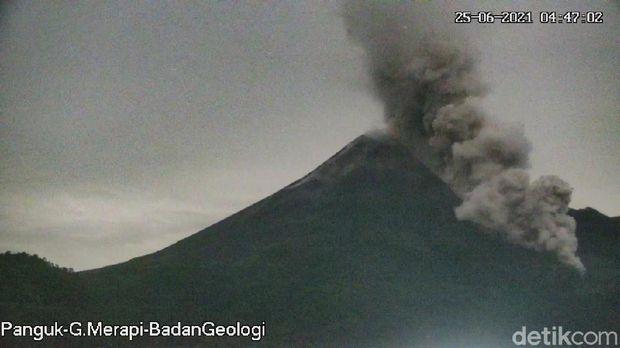 Gunung Merapi erupsi, 25/6/2021