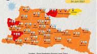 Kasus Baru COVID-19 di Jatim Melonjak 945 Pasien, Terbanyak dari Banyuwangi
