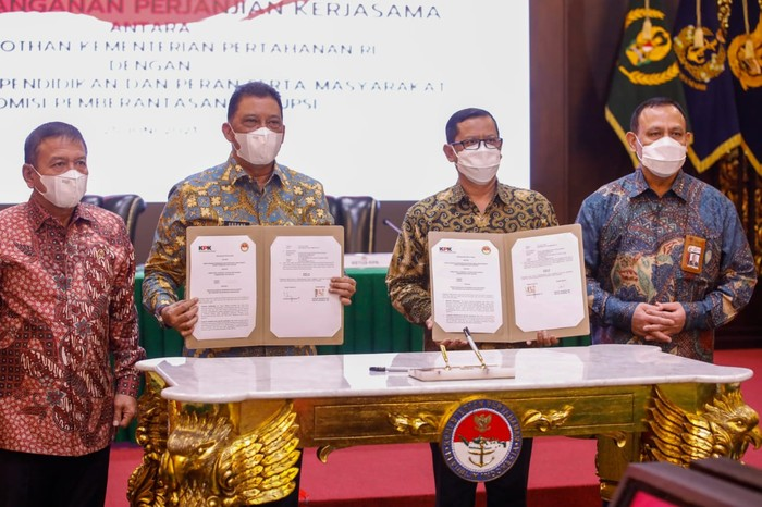Kesepakatan KPK-Kementerian Pertahanan untuk gelar Bela Negara untuk pegawai KPK yang tak lolos menjadi ASN. (Dok Istimewa)