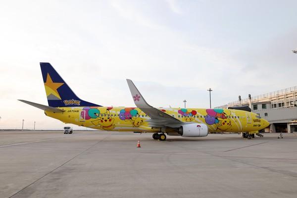 Pesawat ini didekorasi khusus dengan gmabar 10 Pikachu besar. Dengan pembagian 5 Pikachu di setiap sisi badan pesawat.