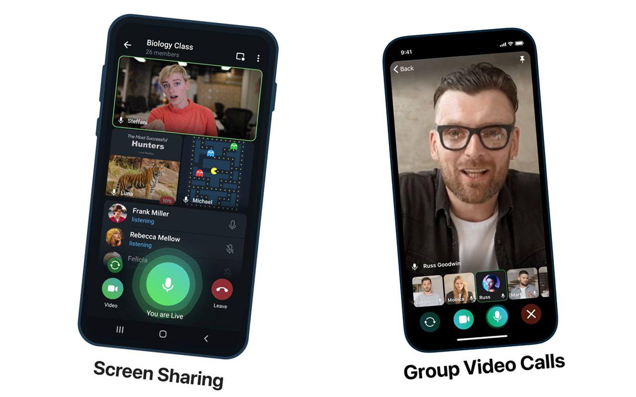 fitur video calls group Telegram