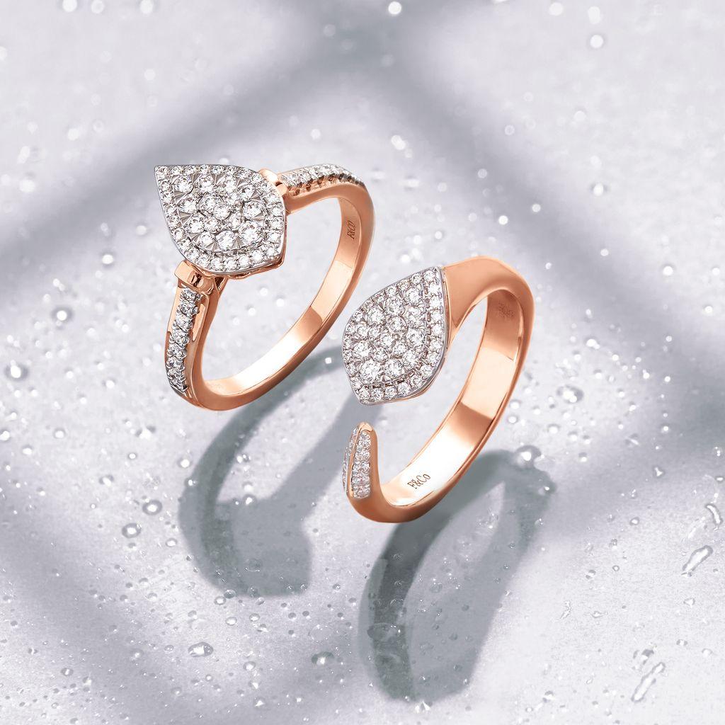 oleksi set perhiasan emas berlian Dew Light.
