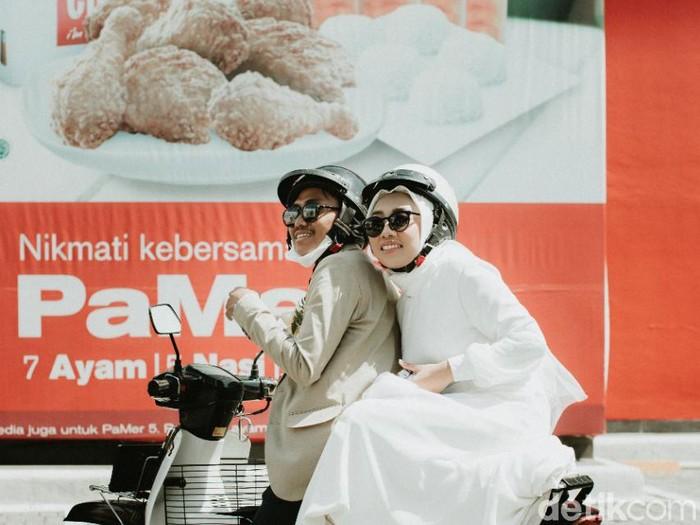 Viral pengantin sesi foto pernikahan di McDonalds bikin kagum.