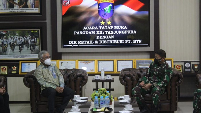 Bank BTN bekerja sama dengan Pangdam Tanjungpura terkait jasa dan layanan perbankan yang bisa dinikmati oleh seluruh anggota TNI AD Tanjungpura.