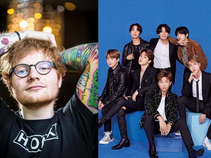 Kolaborasi Ed Sheeran dan BTS