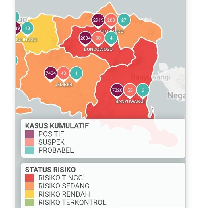 Banyuwangi Berstatus Zona Merah