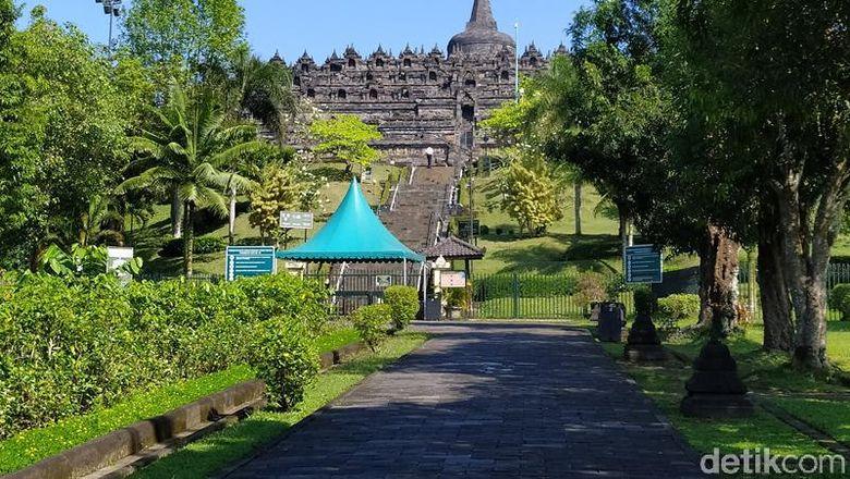 Candi Borobudur ditutup mulai hari ini karena Corona.