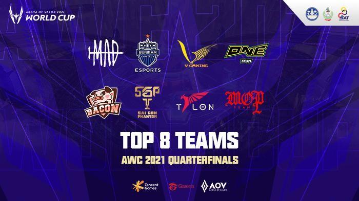 Inilah 8 Tim Terbaik Arena of Valor di Babak Perempatfinal AWC 2021