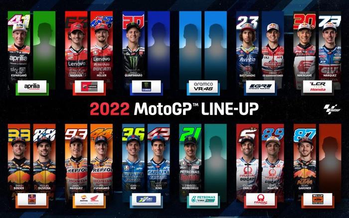 Line Up Pebalap MotoGP 2022
