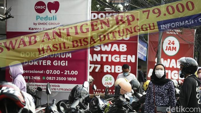 Meningkatnya kasus Corona di DKI Jakarta menjadi lahan bisnis bagi para klinik untuk menyediakan pemeriksaan tes Swab COVID-19.