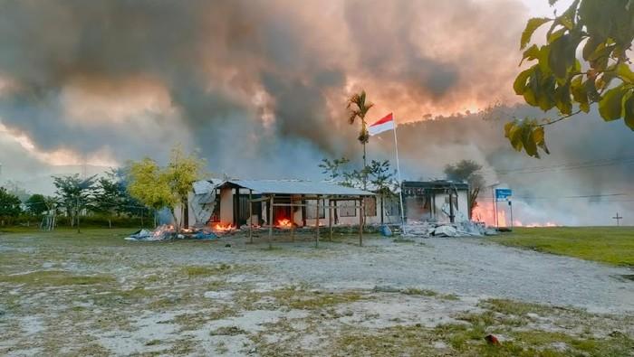 Sejumlah gedung pemerintahan dibakar massa di Yalimo Papua
