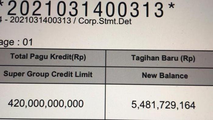 dokumen super group credit limit Pertamina