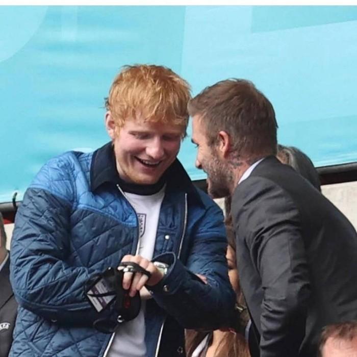 Ed Sheeran dan David Beckham