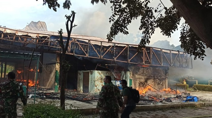 Kebakaran masjid di Cakung, Jakarta Timur. (Dok Dinas Gulkarmat DKI)