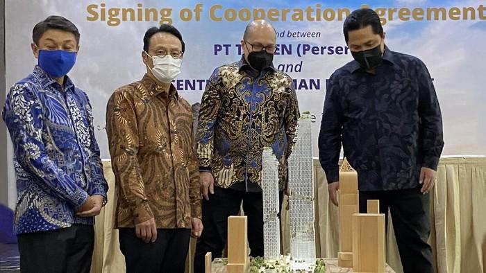 Maket gedung tertinggi di Jakarta milik Taspen.