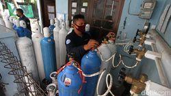 Distribusi Oksigen ke Sejumlah RS di Solo Dikawal Polisi