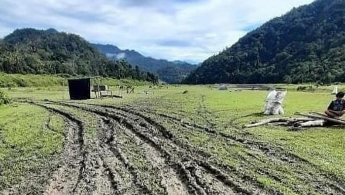 Wisata Lembah Salimbongan rusak akibat kunker Bupati Pinrang (dok. Istimewa).