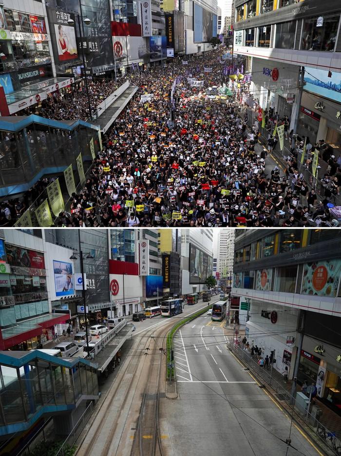Dua tahun lalu, ribuan warga turun ke jalan memperingati penyerahan kembali Hong Kong sekaligus penolakan RUU Ekstradisi.