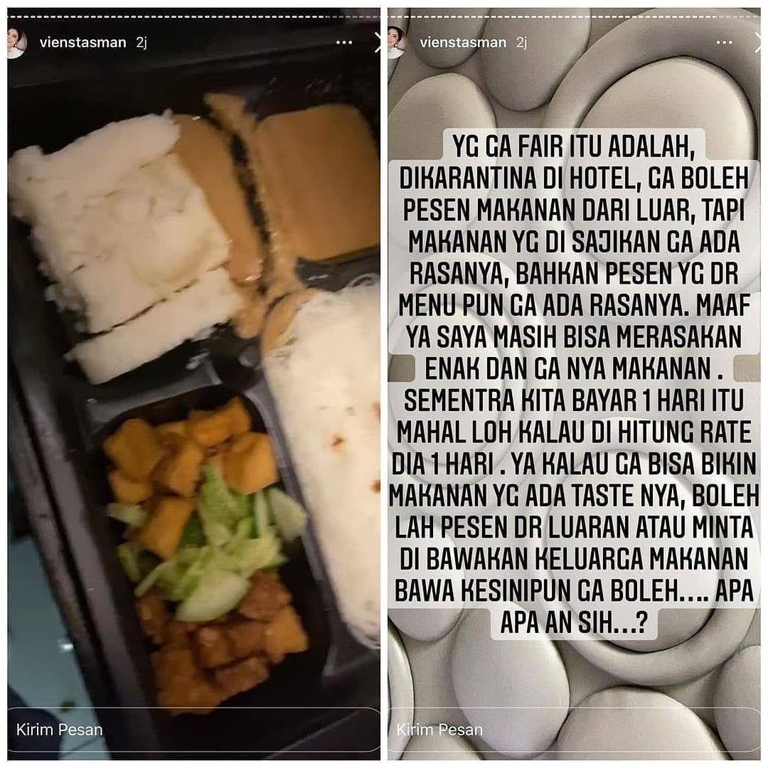Ibunda Rachel Vennya Curhat Soal Makanan Saat Karantina di Hotel Bintang 4