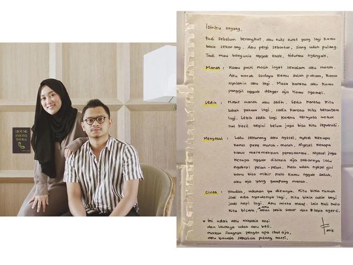 Kisah suami yang menulis surat untuk istrinya viral di Instagram.