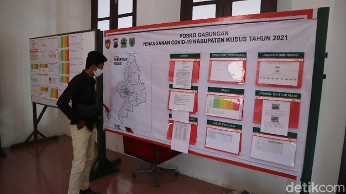 Ruang Posko Gabungan Penanganan COVID-19 Provinsi Jawa Tengah di Kudus, Kamis (1/7/2021).