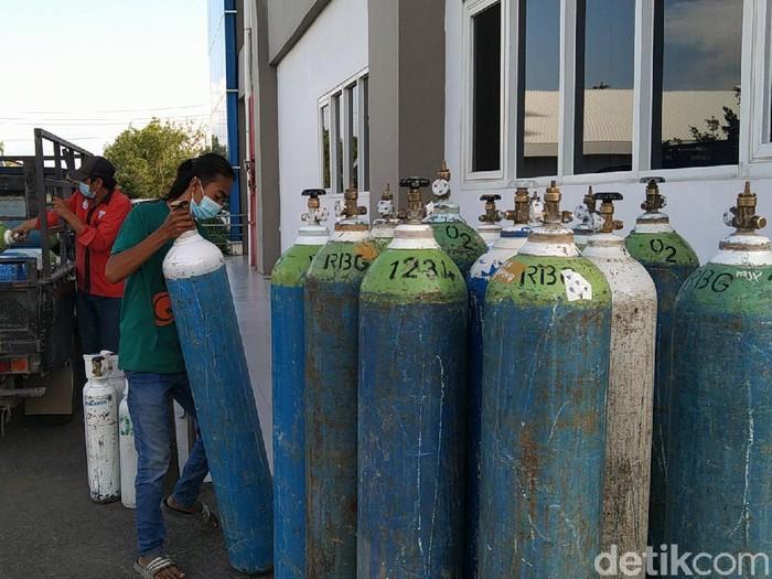 Stok tabung oksigen di RSI Banjarnegara, Kamis (1/7/2021).